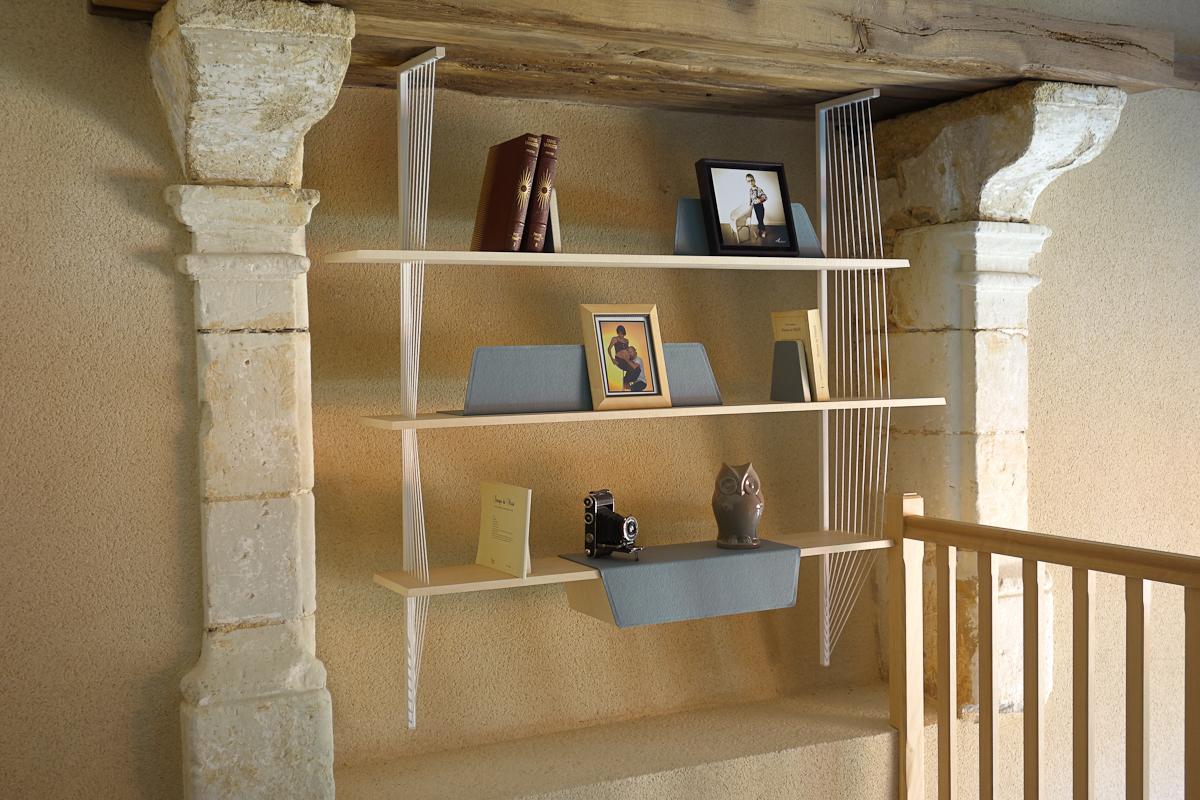 Biblioth Que Erable Light Grey Design Studio Superstrate # Bibliotheque Suspendue Pour Chambre