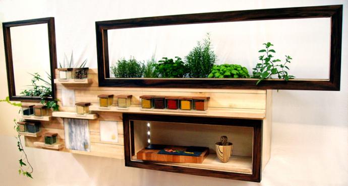 mobilier cuisine créative - délice mural - design studio superstrate
