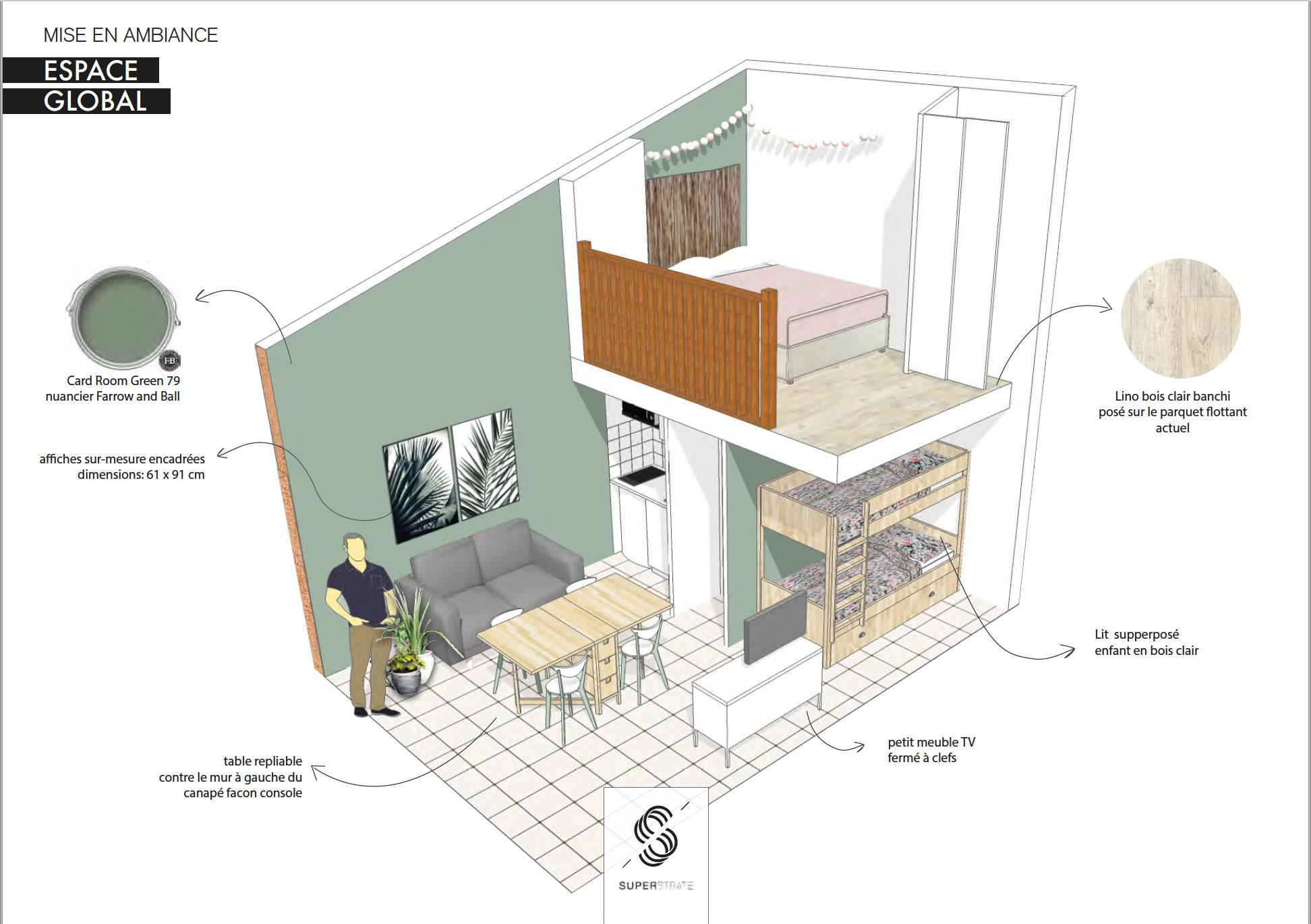 ARCHITECTURE D'INTÉRIEUR • Revalorisation d'un appartement de bord de mer pour la location saisonnière