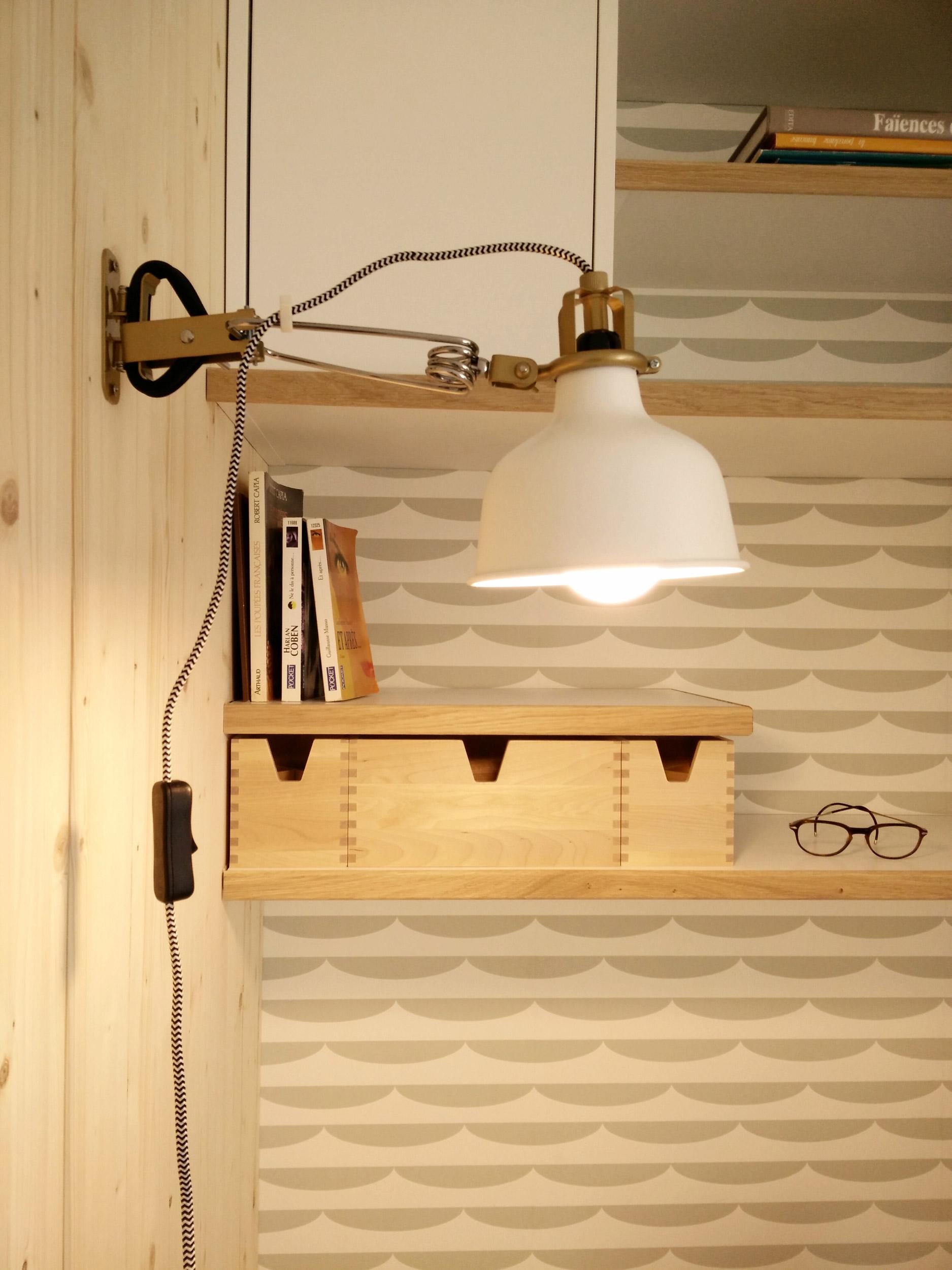 BUREAU • Intégrer un espace bureau dans une alcôve, maison individuelle, Montpellier