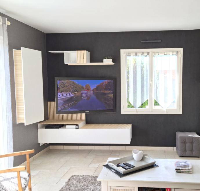 mobilier TV , superstrate, Toulouse, création d'intérieur
