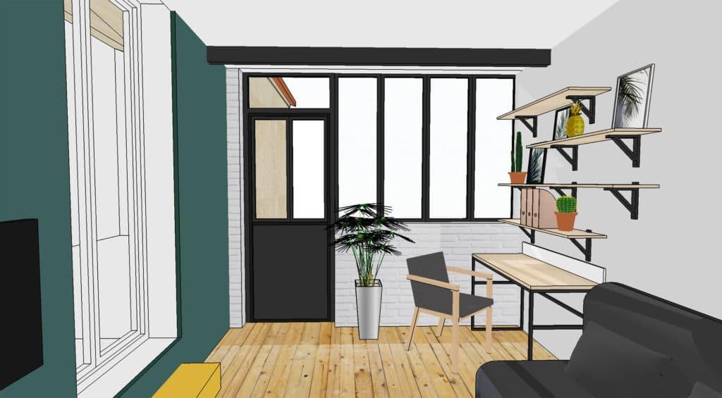 architecture d'intérieur, rénovation et agrandissement d'une maison individuelle à proximité de Toulouse prestation par le studio superstrate, designer et architecte d'intérieur
