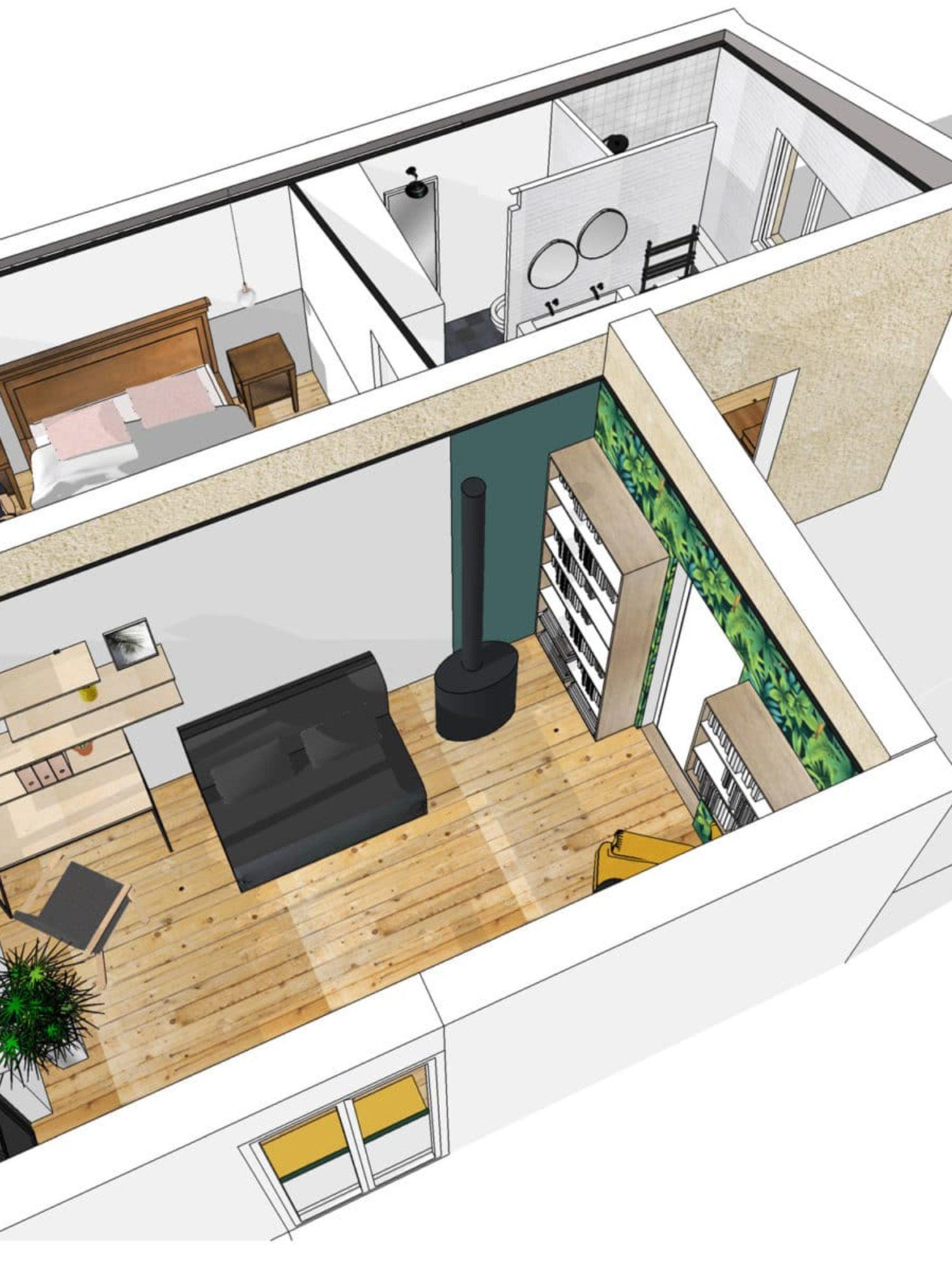 ARCHITECTURE D'INTÉRIEUR • Agrandissement et rénovation d'une maison en périphérie de Toulouse