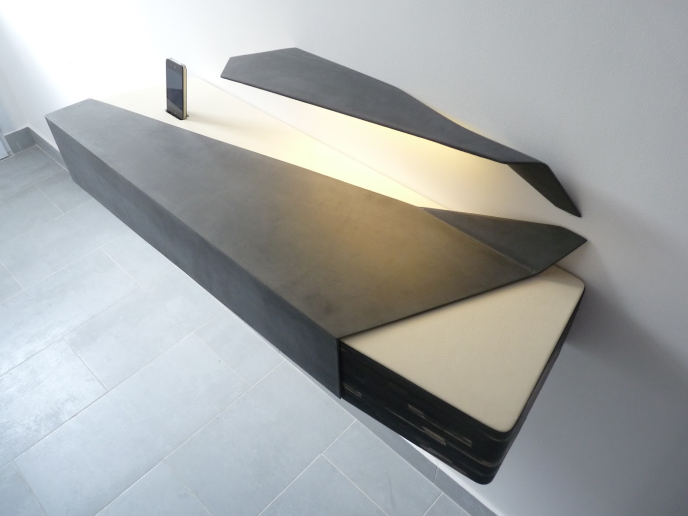 console d'entrée - anthracite- studio superstrate-toulouse
