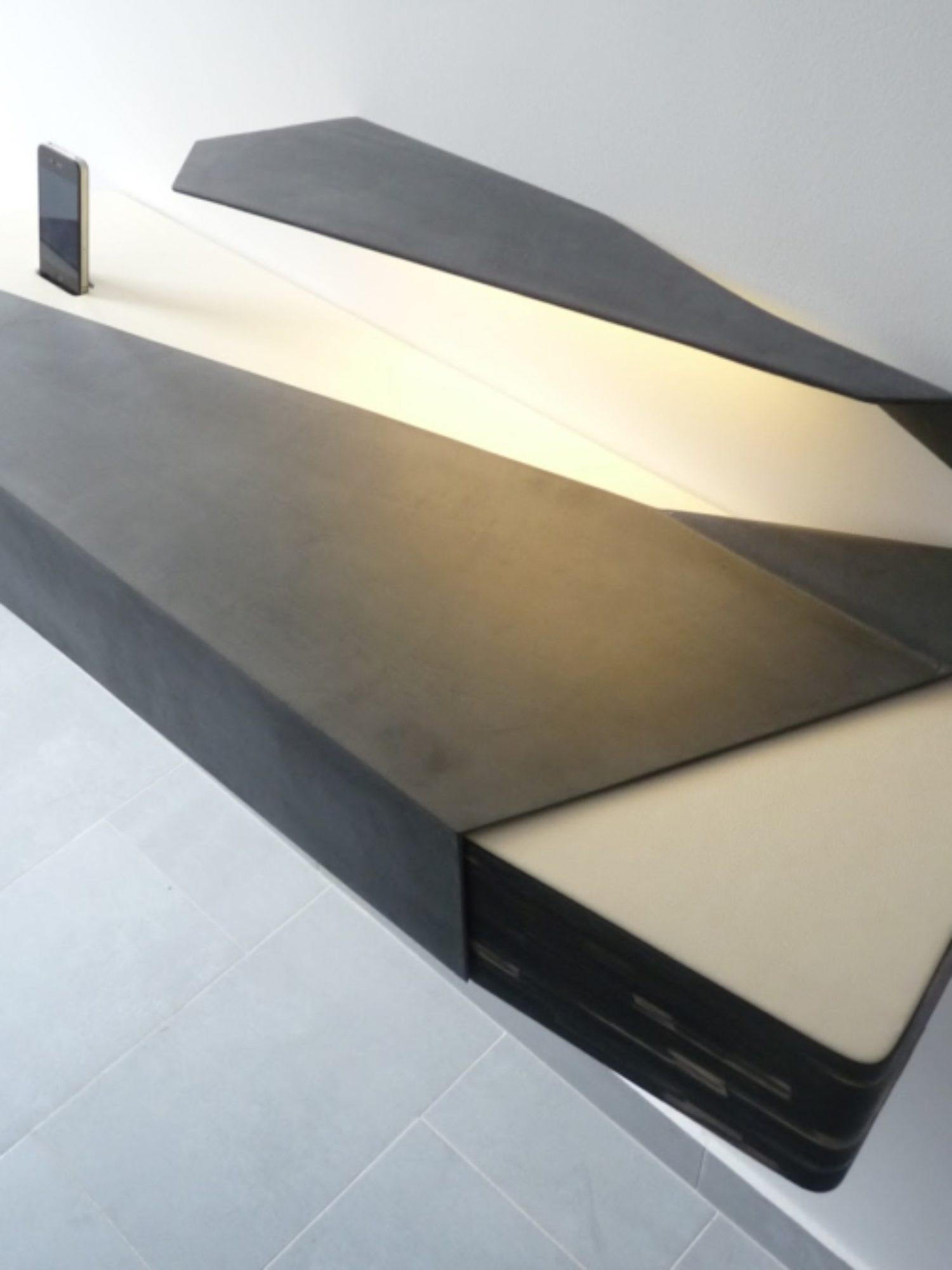 CONSOLE D'ENTRÉE • Création d'un meuble unique au design sculptural
