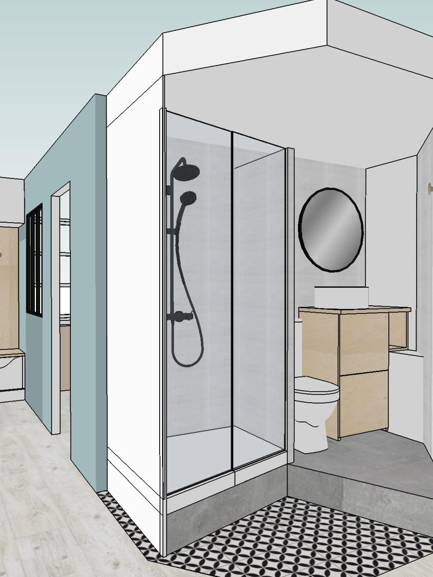 ARCHITECTURE D'INTÉRIEUR • Rénovation d'un appartement parisien destiné à la location pour investisseur