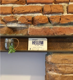 brique toulousaine et acier rouillé pour une cuisine originale et sur mesure dans un intérieur toulousain de charme design studio superstrate Toulouse
