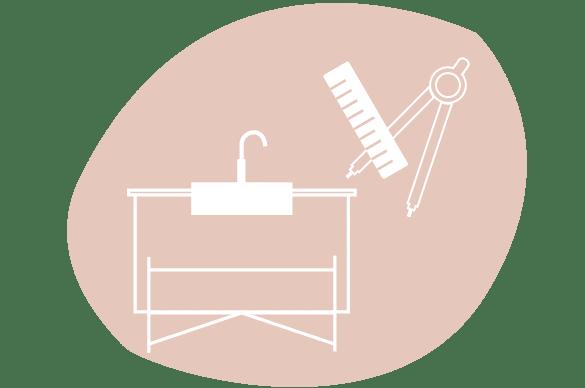 Icone cuisine originale et cuisine sur mesure par le studio de design et fabrication superstrate toulouse
