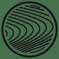 icone illustrant des veine de bois un matériau pérenne utilisé par le studio de design superstrate spécialisé dans le mobilier sur mesure, cuisine original, architecture intérieur et agencement magasin basé à toulouse